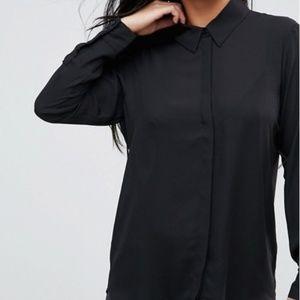 ASOS Classic Black Long Sleeve Blouse
